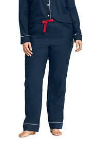 Women's Plus Size Flannel Pajama Pants