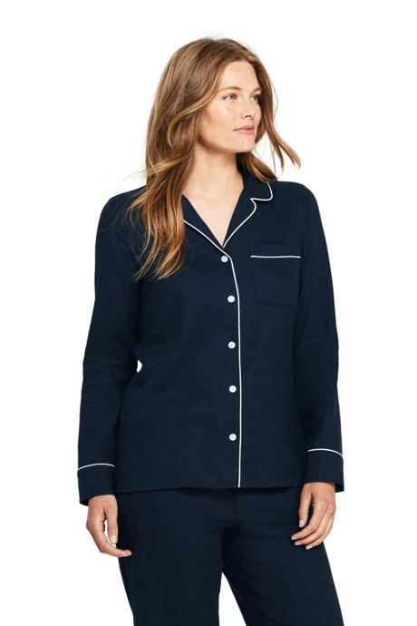 Women's Petite Long Sleeve Flannel Pajama Top