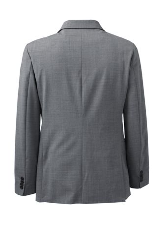 Men's Washable Wool 2 Button Tailored Fit Suit Jacket