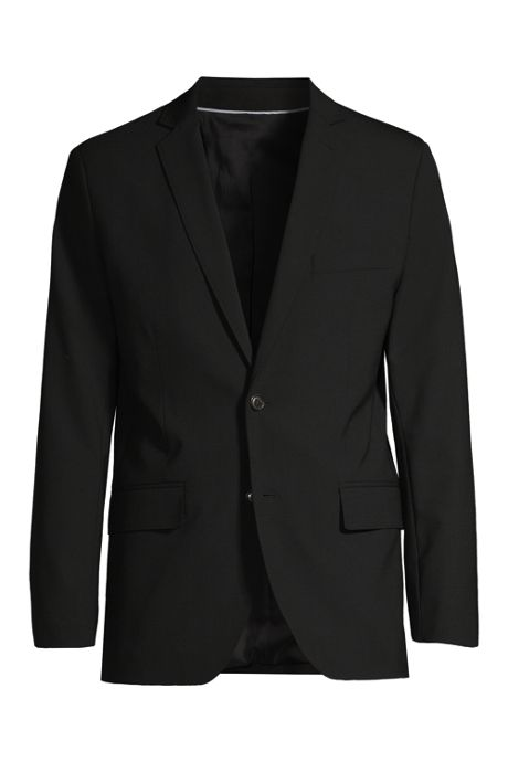 Men's Tall Washable Wool 2 Button Tailored Fit Suit Jacket