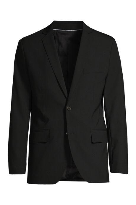 Men's Washable Wool 2 Button Tailored Fit Suit Jacket