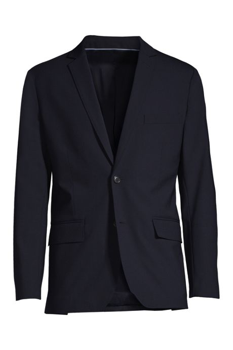 Men's Big Washable Wool 2 Button Tailored Fit Suit Jacket