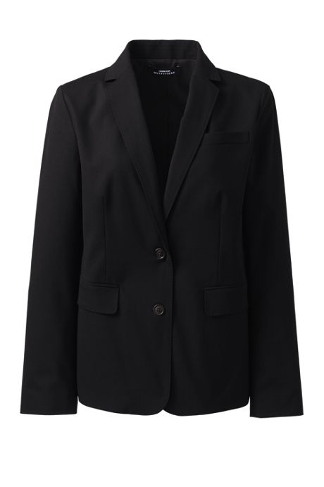 School Uniform Women's Washable Wool Two Button Traditional Blazer