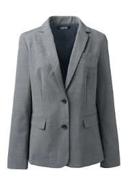 Women's Petite Washable Wool Two Button 26 Inch Blazer
