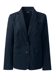 Women's Washable Wool Two Button Traditional Blazer