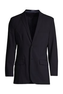 Men's Washable Wool 2 Button Traditional Fit Suit Jacket