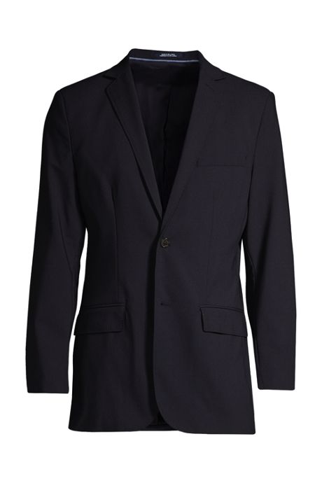 Men's Big Washable Wool 2 Button Traditional Fit Suit Jacket