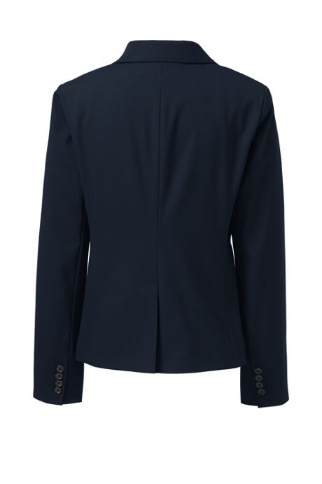 Women's Washable Wool Modern 1 Button Blazer