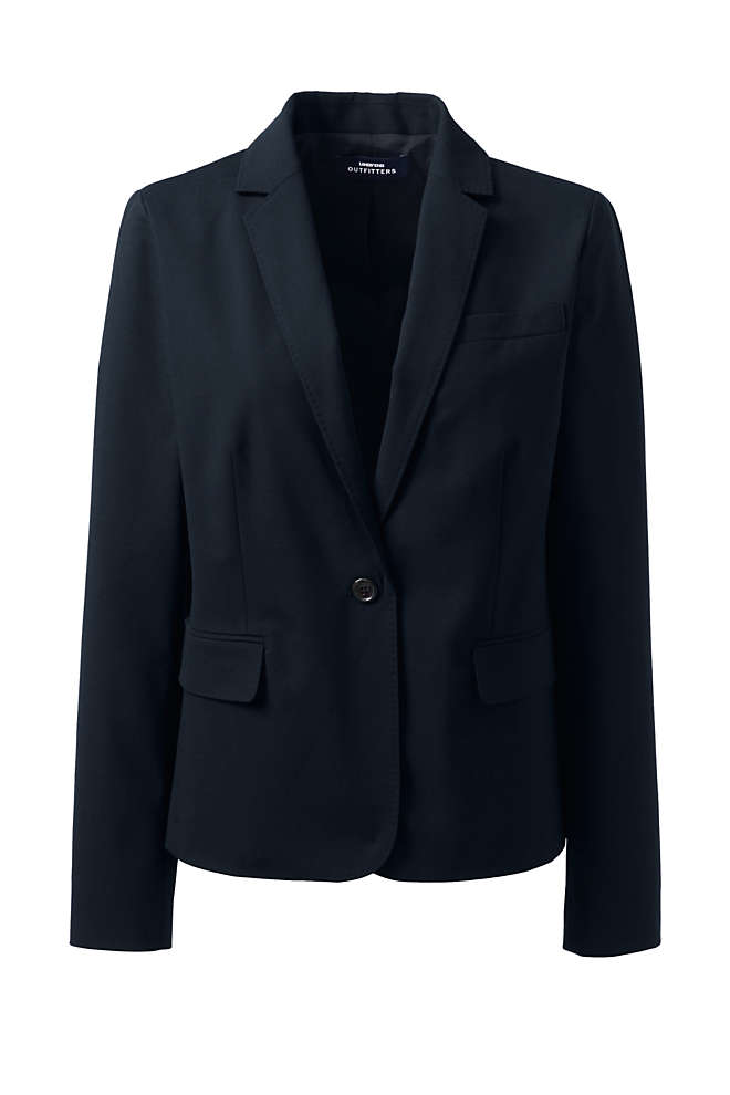 Women's Washable Wool Modern 1 Button Blazer, Front