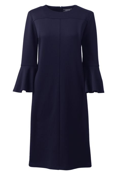 Women's Ponte Flare Sleeve Shift Dress