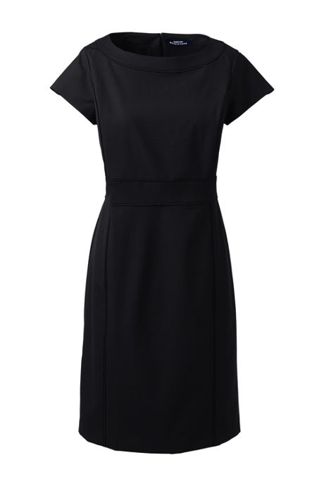 Women's Washable Wool Piped Sheath Dress