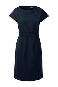 Women's Plus Size Washable Wool Piped Sheath Dress