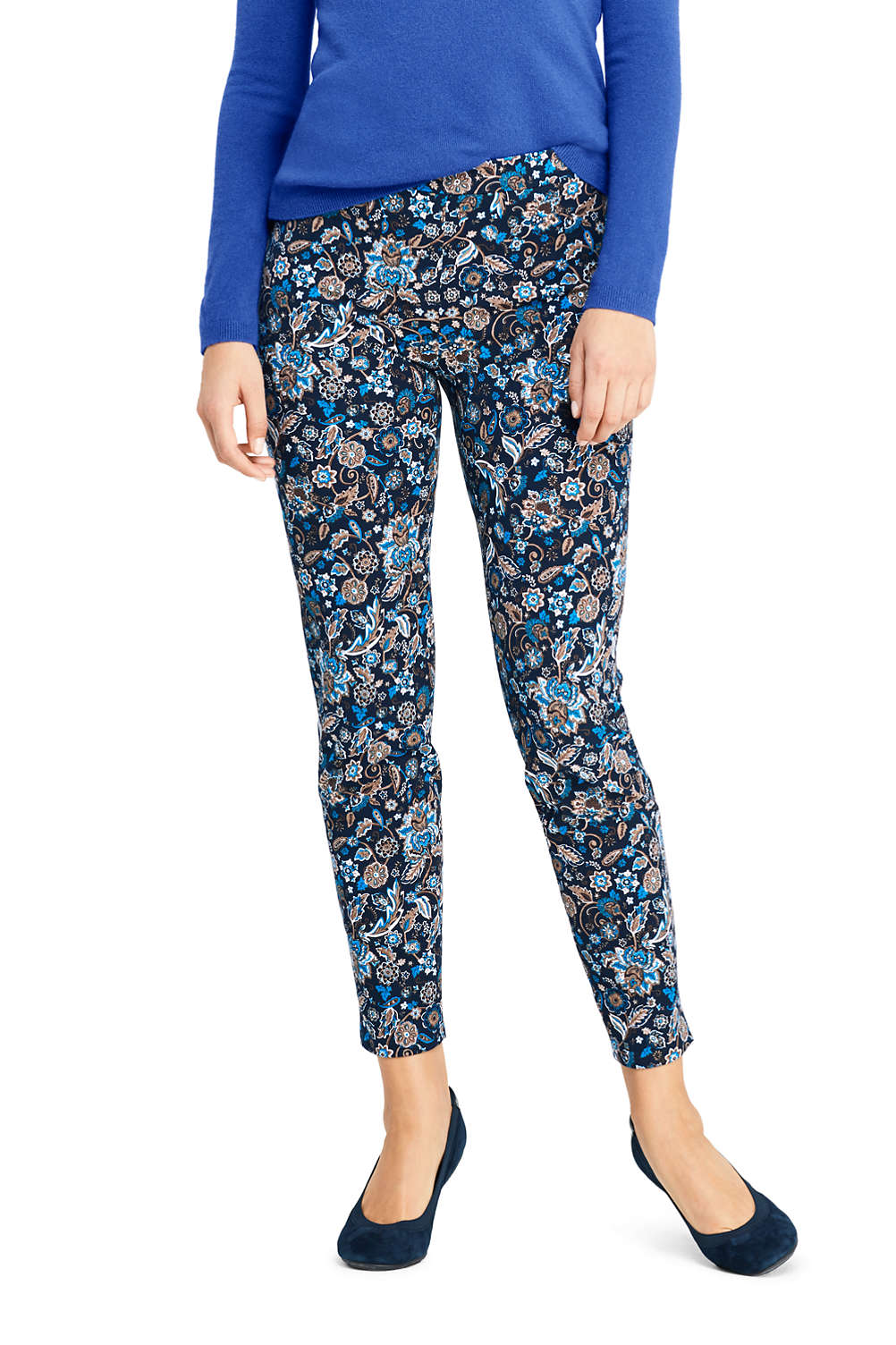 af19d97d63e Women s Mid Rise Bi-Stretch Pull On Ankle Pants from Lands  End