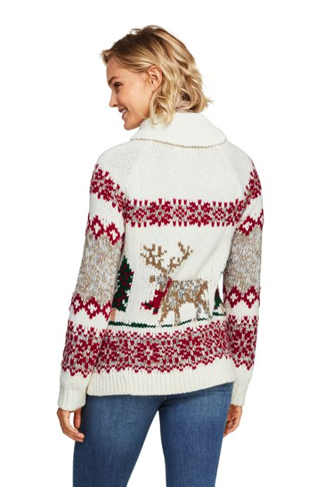 Women's Zip Christmas Sweater