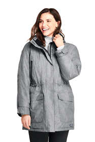 Women's Plus Size Petite Heathered Squall Insulated Winter Parka