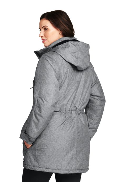 Women's Plus Size Petite Heathered Squall Parka
