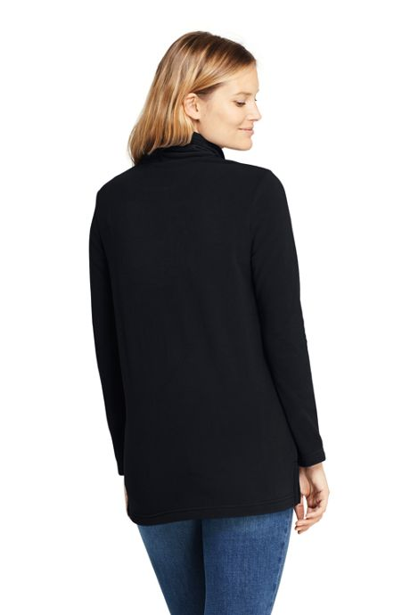 Women's Petite Tunic Fleece Turtleneck