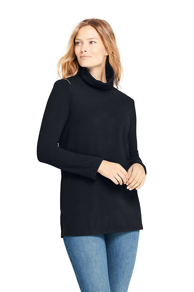 Women's Fleece Turtleneck Tunic Top, Front