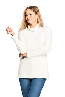 Women's Roll Neck Fleece Tunic Top