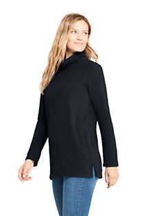 Women's Fleece Turtleneck Tunic Top, alternative image