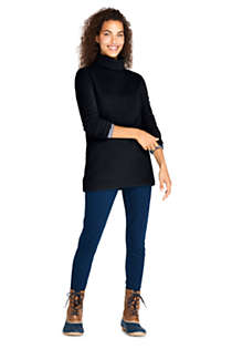Women's Fleece Turtleneck Tunic Top, Unknown