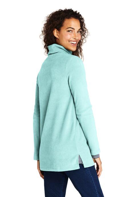 Women's Petite Fleece Turtleneck Tunic Top