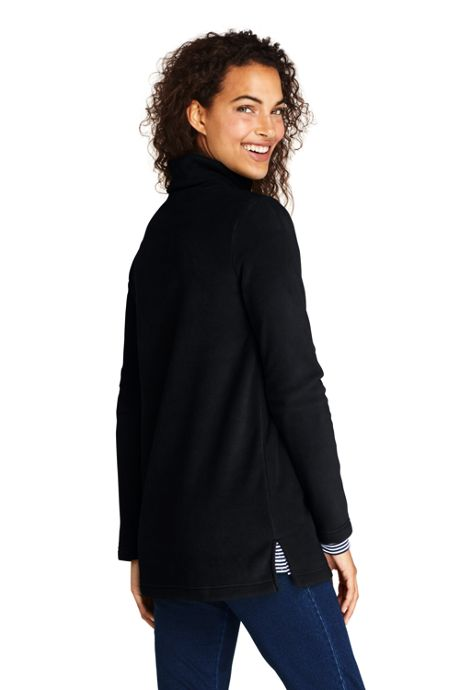 Women's Petite Fleece Turtleneck Tunic Top