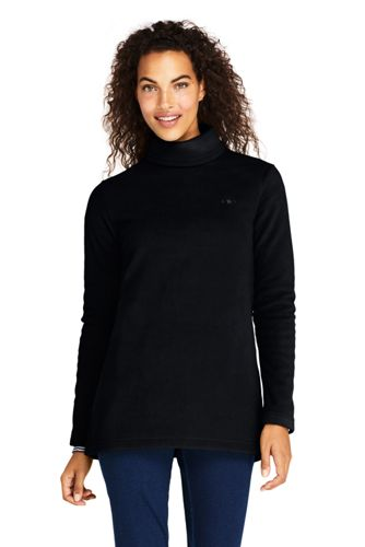 Women's Fleece Turtleneck Tunic Top