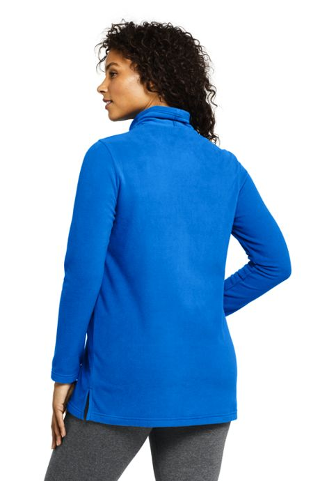 Women's Plus Size Tunic Fleece Turtleneck