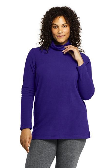 Women's Plus Size Tunic Fleece Turtleneck