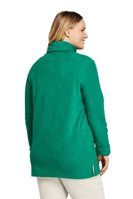 Women's Plus Size Fleece Turtleneck Tunic Top