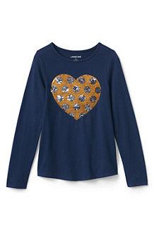 Le T-Shirt Graphique en Jersey à Motifs Paillettes, Fille