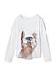 Grafik-Shirt mit Wende-Pailletten für große Mädchen