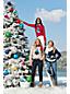 Le Pull de Noël en Coton Supima Texturé, Femme Stature Standard