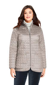 Women's Plus Size Quilted Insulated Jacket