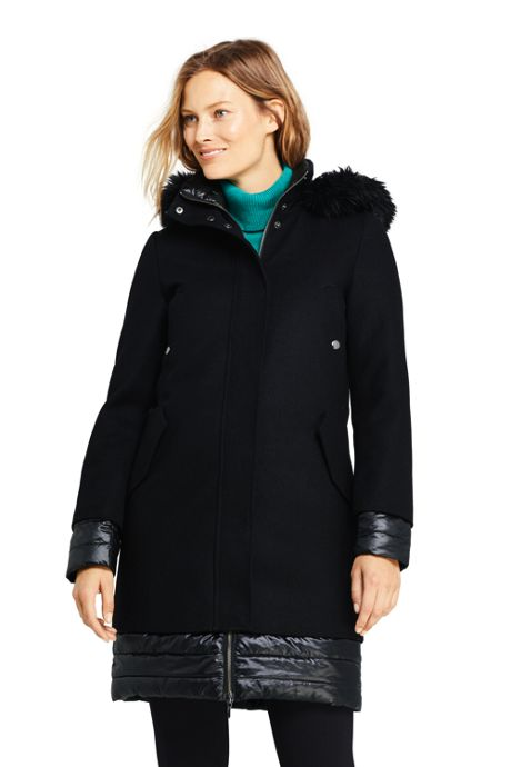 Women's Hybrid Insulated Long Winter Coat