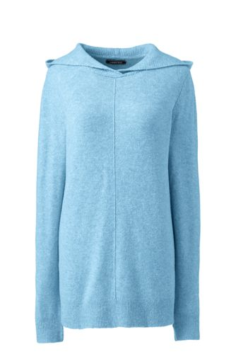 Women's Plus Boucle Hooded Jumper