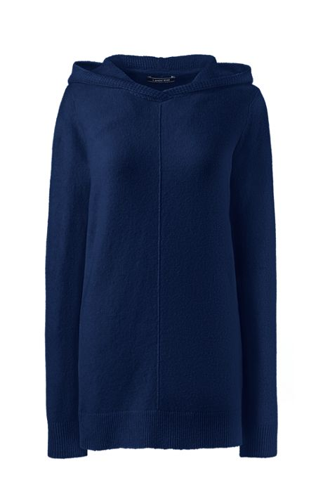 Women's Boucle Hooded Tunic Sweater