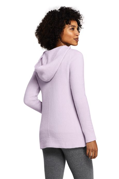 Women's Petite Boucle Hooded Tunic Sweater
