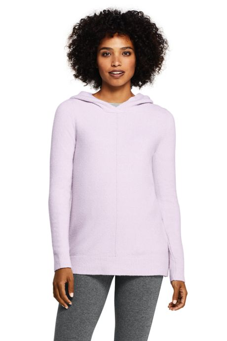 Women's Tall Boucle Hooded Tunic Sweater