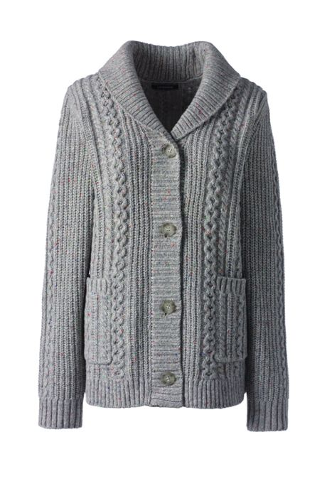 Women's Lofty Cable Cardigan Sweater