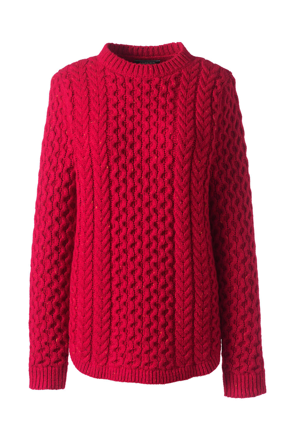 ca896a1bcfd87 Women s Cozy Donegal Tunic Cable Sweater from Lands  End