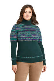 Womens Plus Size Cashmere Turtleneck Sweater