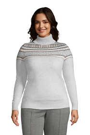 Womens Plus Size Cashmere Turtleneck Sweater