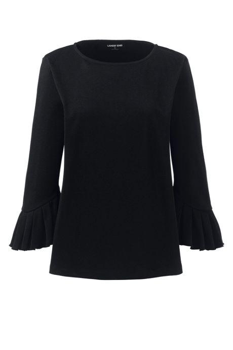 Women's Plus Size 3-Quarter Pleat Sleeve Top