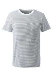 Men's Big Short Sleeve Micro-Stripe Layering T-shirt
