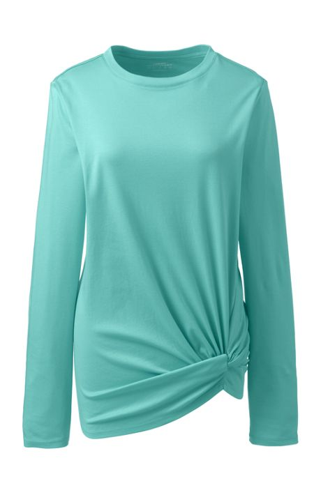Women's Supima Micro Modal Long Sleeve Twist Hem Top