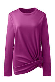 Women's Plus Size Supima Micro Modal Long Sleeve Twist Hem Top