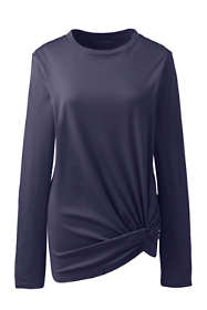 Women's Plus Size Supima Micro Modal Long Sleeve Twist Hem Top