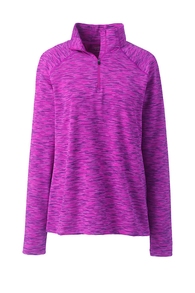 Women's Performance Space Dye Quarter Zip Pullover, Front